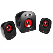 Altavoces Mars Gaming MS2 Negro Rojo 20W