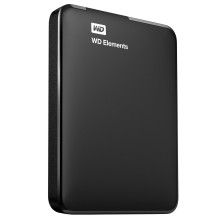 Disco Duro WD EXTERNO 2.5'' 1TB USB3.0 ELEMENTS NEGRO