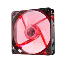 Ventilador caja coolfan NOX  12cm, 19DBA, Rojo