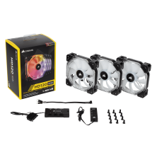 Ventilador Caja RGB HD120 Led Single Fan Con Controlador de Corsair