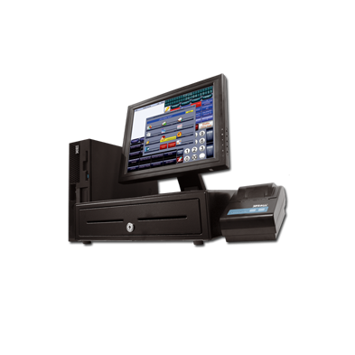 """Conjunto TPV ( Monitor Táctil 15"""" + IMPRESORA TICKET+ CAJON+LECTOR CODIGO BARRAS )"""
