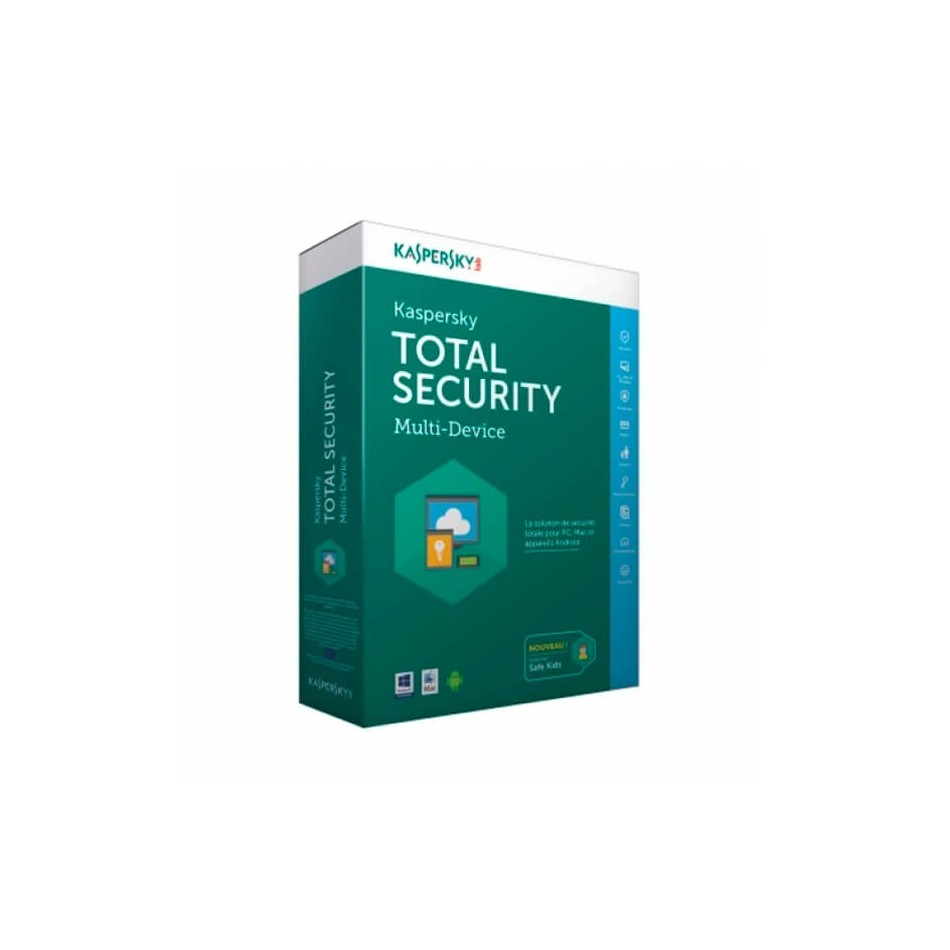 Kaspersky Total Security 2017 Multi Dispositivos 3 Usuarios Base