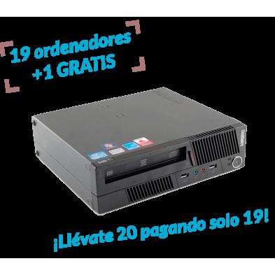 19 uds. + 1 de regalo | Lenovo M91 Usdt | Intel Core i5 2400S 2500 Mhz | 4 gb Ram | 320 hdd