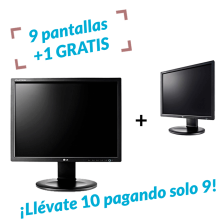 9 UDS. + 1 de REGALO| Monitor LG E1910PMW