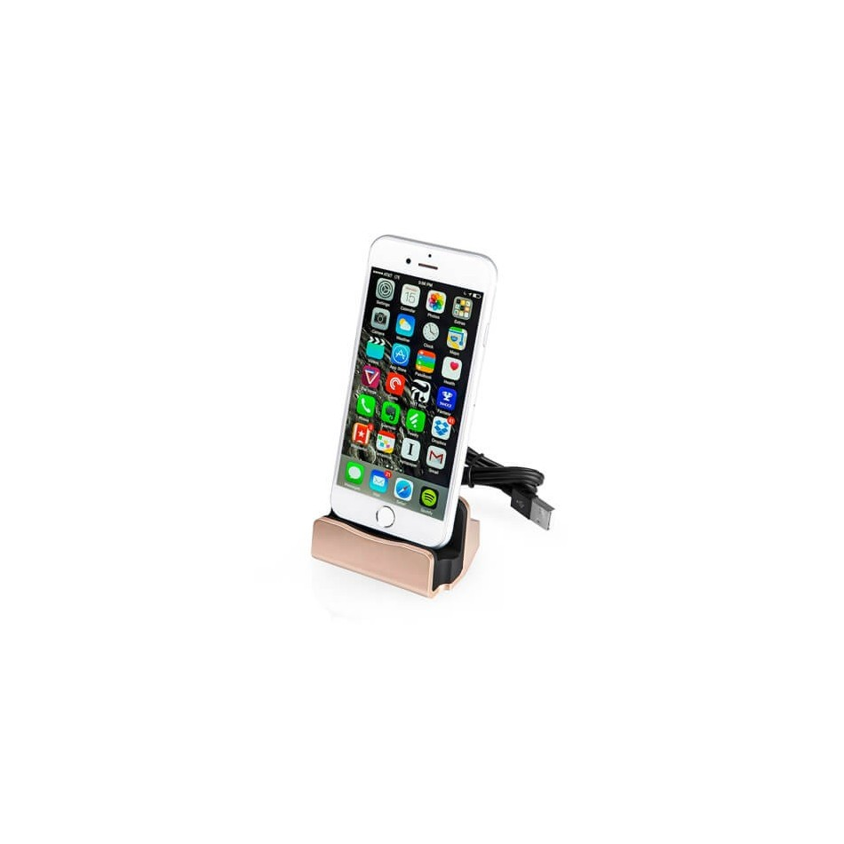 Dock Station| Para iPhone 5/5S/SE/6/6S/7 Dorado