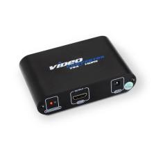 Conversor SVGA+audio a HDMI con alimentación, SVGA/H+Jack 3.5/H-HDMI A/H, negro
