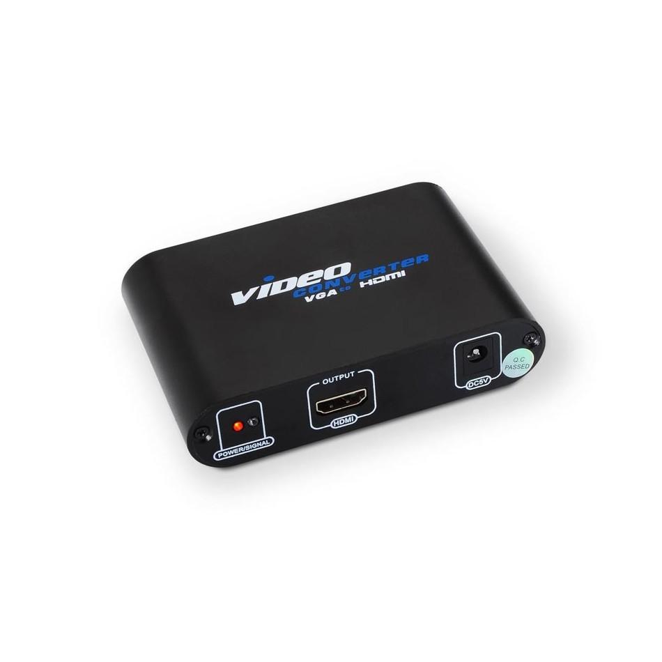 Comprar Conversor SVGA+audio a HDMI con alimentación, SVGA/H+Jack 3.5/H-HDMI A/H, negro