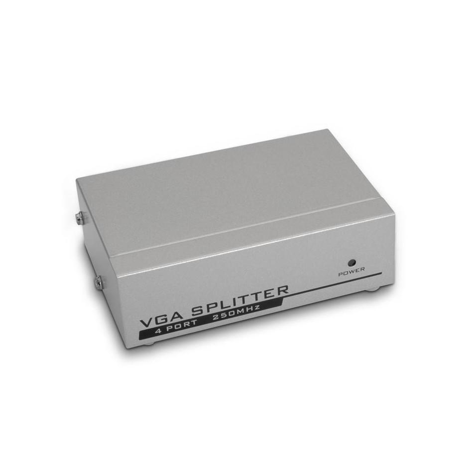 Comprar SVGA duplicador para 4 monitores con alimentación