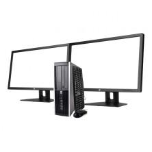 "HP 8300 i5 3470 3.2GHz   4 GB Ram   320 HDD   DVD-RW   2xTFT 23"""