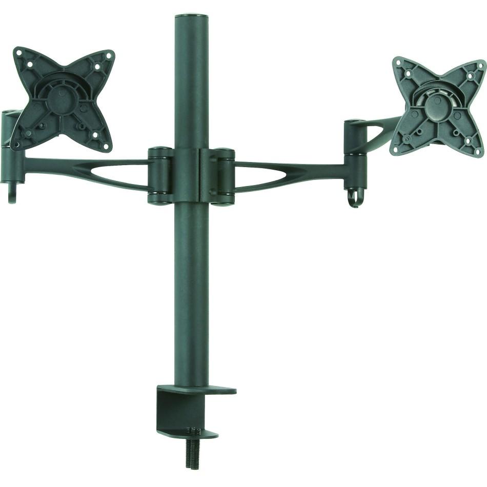 "Comprar Soporte de mesa para 2 pantallas (monitor / plasma / LCD / LED) 13""-27"" Negro -DB1223TN-B"