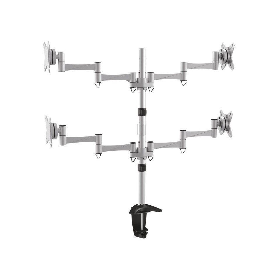 "Comprar Soporte de mesa para 4 pantallas (monitor / plasma / LCD / LED) 13""-27"" Plata - DB2023TN-S"
