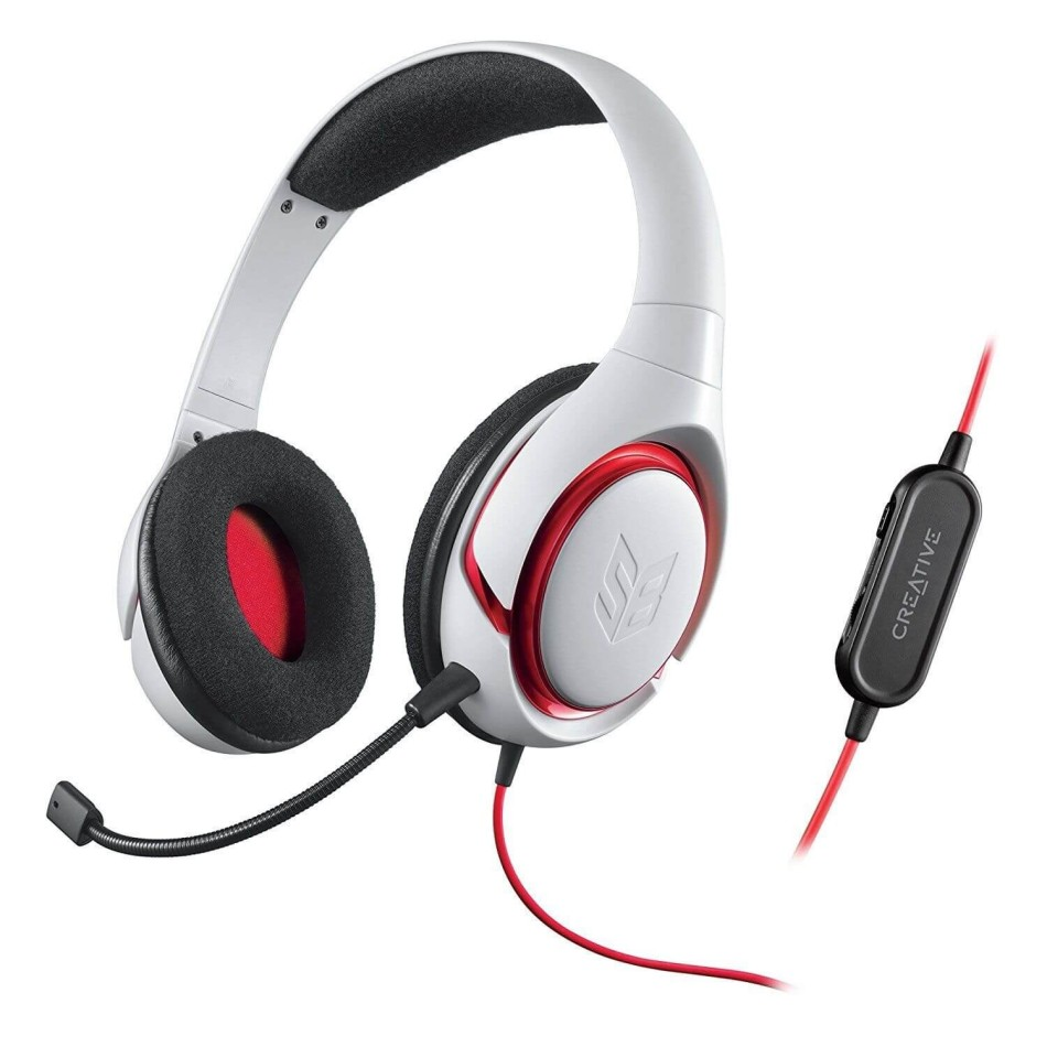 AURICULARES GAMING CREATIVE INFERNO BLANCO | PC/MAC/PS4/XBOX ONE