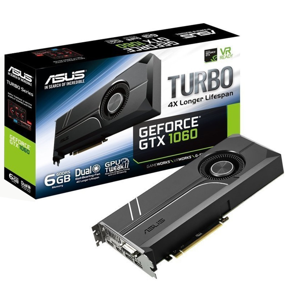 Tarjeta Grafica ASUS GeForce GTX 1060 6GB GDDR5 TURBO