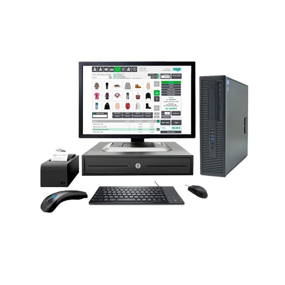 """Comprar TPV MEDIUM BRONZE  ( Monitor Táctil 15"""" + IMPRESORA TICKET+ CAJON + LECTOR CODIGO BARRAS + VISOR)"""