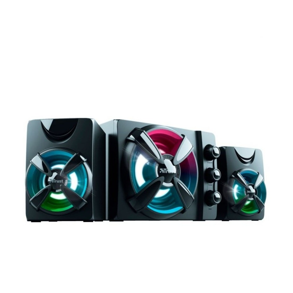 Comprar ALTAVOCES 2.1 TRUST GAMING ZIVA RGB   11W RMS SUBWOOFER MADERA