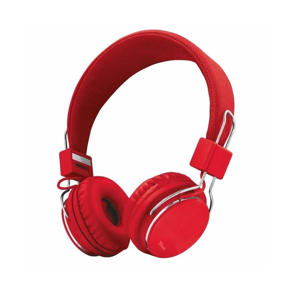 Comprar Auriculares Trust Urban Ziva 21822  con Microfono  Jack 3.5  Rojos