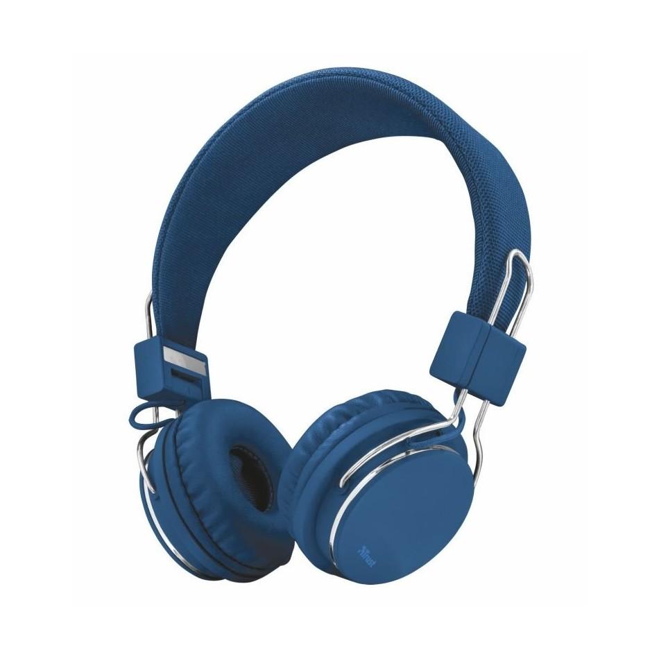 Comprar AURICULARES TRUST URBAN ZIVA BLUE   PLEGABLES   MICRÓFONO INTEGRADO   MANDO A DISTANCIA EN CABLE