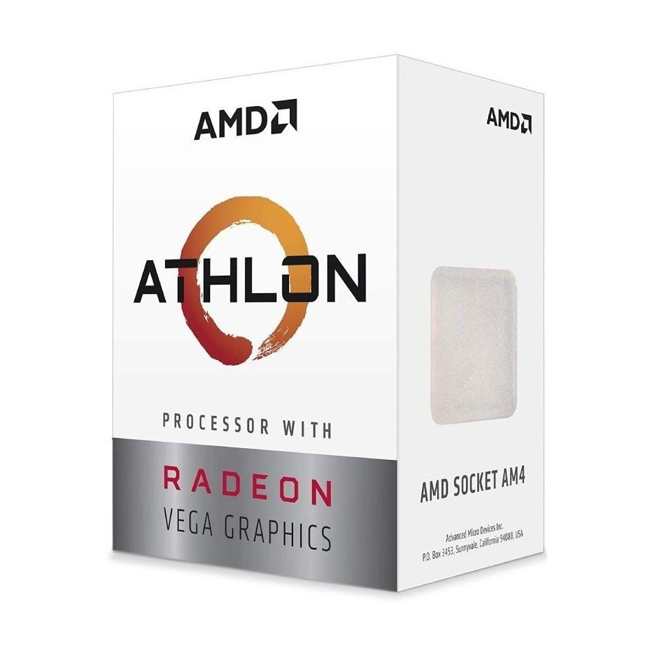 Comprar PROCESADOR AMD ATHLON 3000G   3.5GHZ   SOCKET AM4   GRÁFICA INTEGRADA RADEON VEGA 3