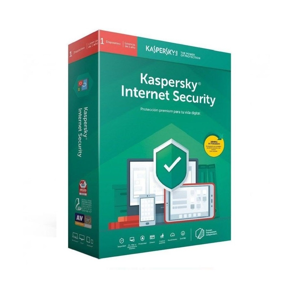 Comprar ANTIVIRUS KASPERSKY INTERNET SECURITY 2020  1 DISPOSITIVO  1 AÑO  NO CD