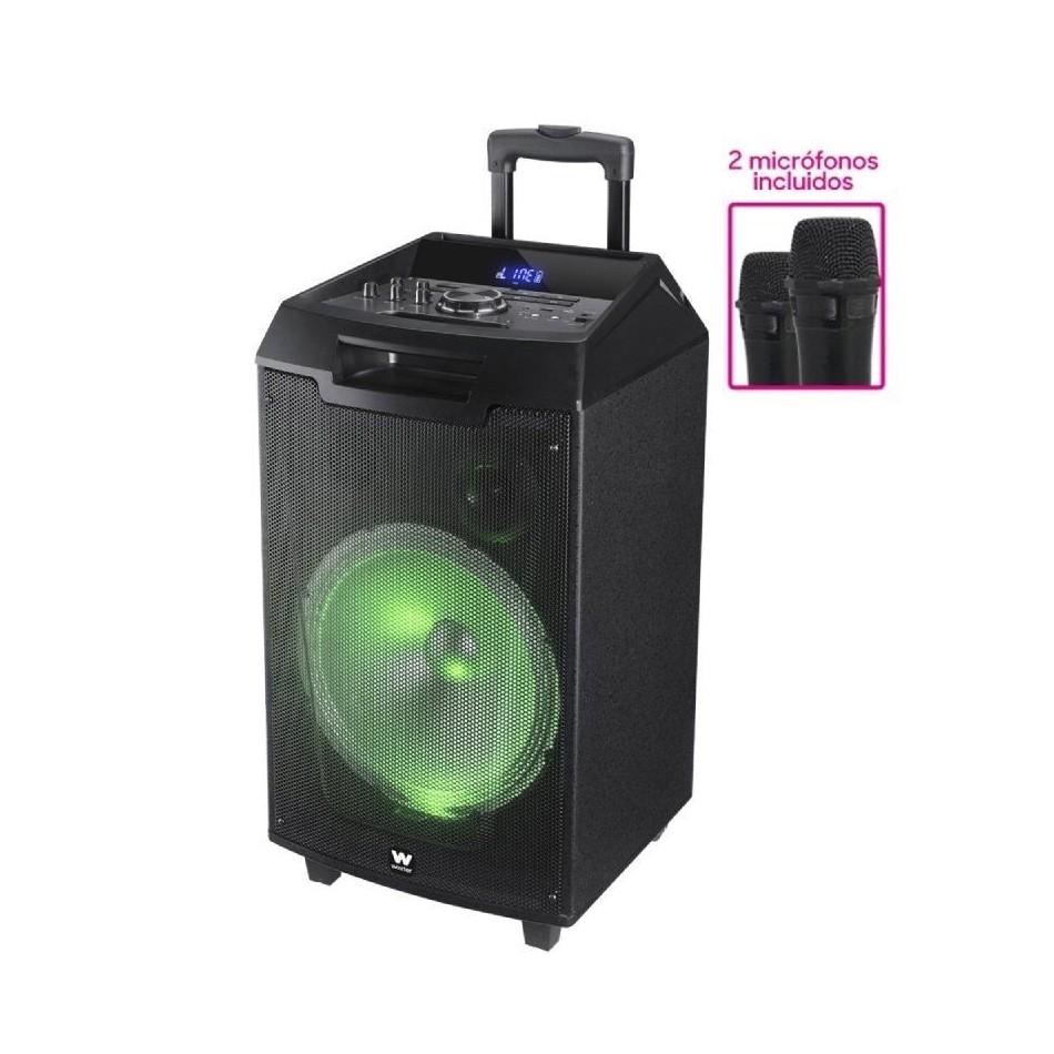 Comprar ALTAVOCES 2.1 CON BLUETOOTH HIDITEC H400 SPK010000  40W  LED 2 MICROFONOS INALAMBRICOS