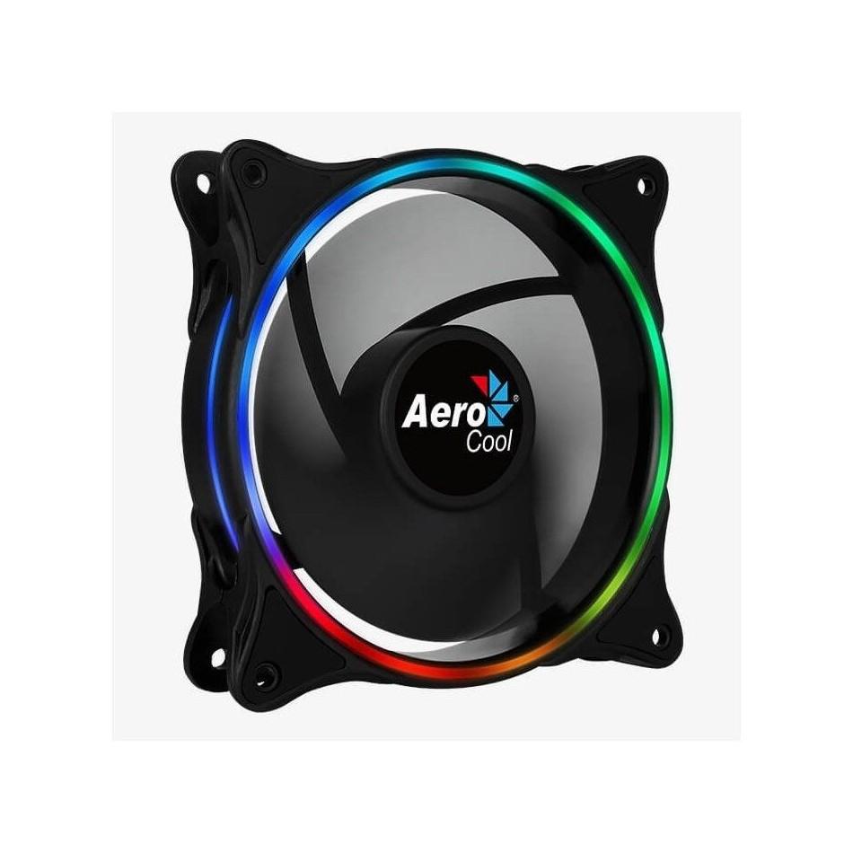 Comprar VENTILADOR AEROCOOL ECLIPSE 12   12CM   ANILLO LED RGB DUAL SLIM   ALMOHADILLAS ANTIVIBRACION   3/4/6 PIN