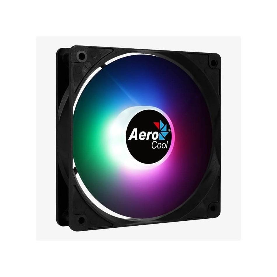 Comprar VENTILADOR AEROCOOL FROST RGB   12CM   LED RGB FIJO   ASPAS CURVADAS   MOLEX/3 PIN