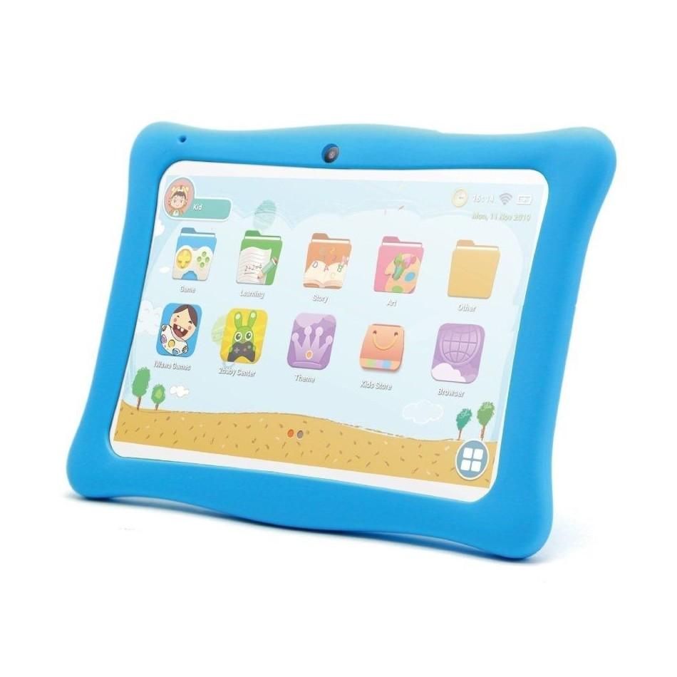 Comprar TABLET INFANTIL INNJOO K102 BLANCA CON MARCO PROTECTOR AZUL   QC   1GB RAM   16GB   10'