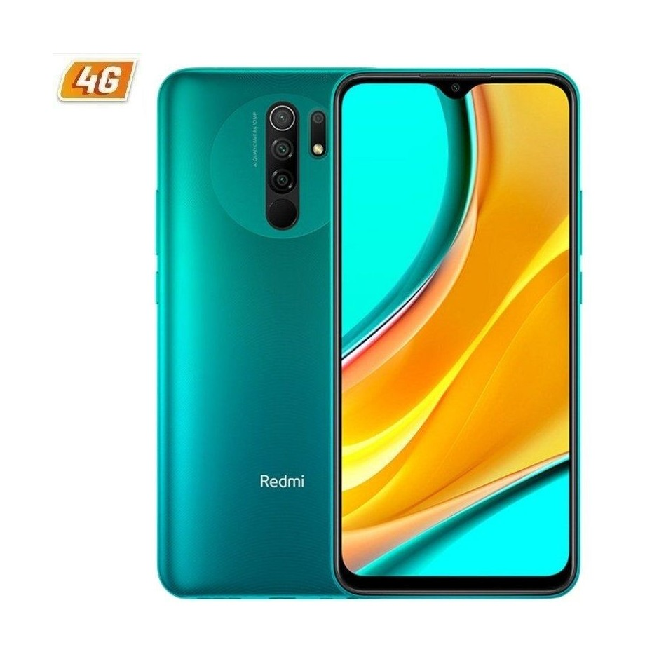 Comprar SMARTPHONE MÓVIL XIAOMI REDMI 9 OCEAN GREEN   6.53'   MTK HELIO G80   3GB RAM   32GB   CAM (13+8+5+2)/8MP   4G   DUAL SIM