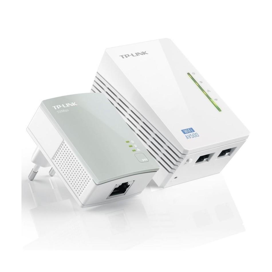 Comprar PLC/POWERLINE TPLINK TLWPA4220KIT KIT EXTENSOR WIFI AV600 A 300MBPS 2P ETHERNET 10/100  BLANCO