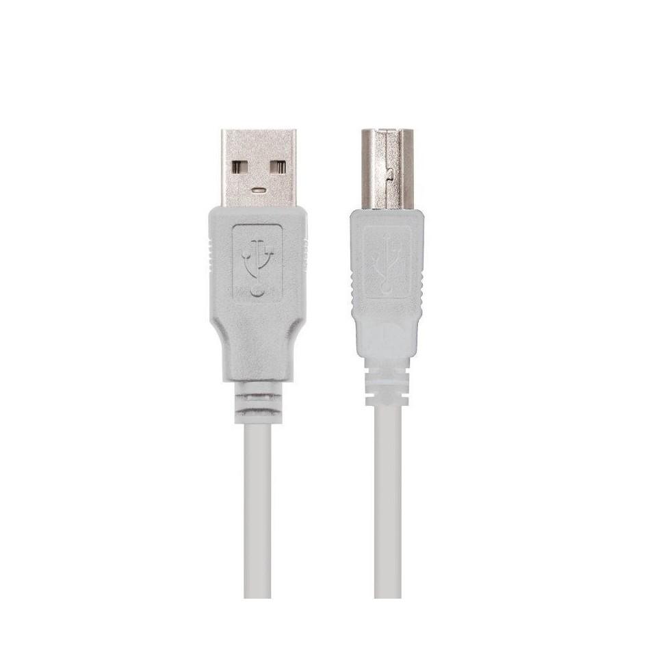 Comprar CABLE USB 2.0 IMPRESORA NANOCABLE 10.01.0104   CONECTORES USB TIPO A MACHO/USB TIPO B MACHO   3M   BEIGE