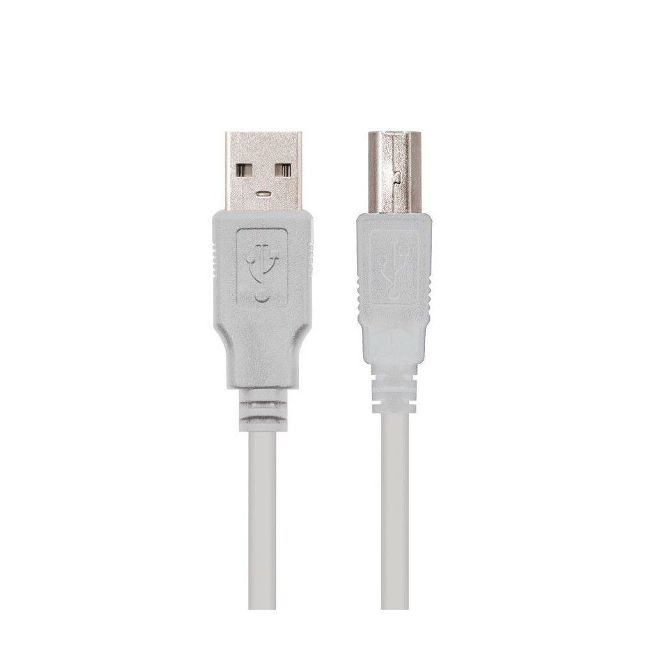 Comprar CABLE USB 2.0 NANOCABLE 10.01.0105   CONECTORES TIPO A MACHO/B MACHO   4.5M   BEIGE