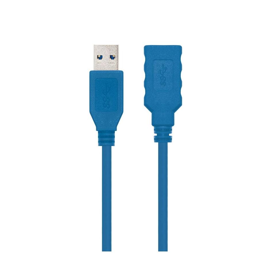 Comprar CABLE ALARGADOR USB3.0 NANOCABLE 10.01.0902 BL   CONECTORES A MACHO / A HEMBRA    2 METROS