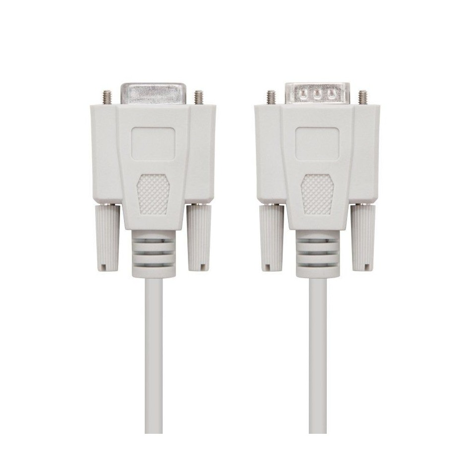 Comprar CABLE SERIE RS232 NANOCABLE 10.14.0202   CONECTORES TIPO DB9/M DB9/H   1.8M   BEIGE
