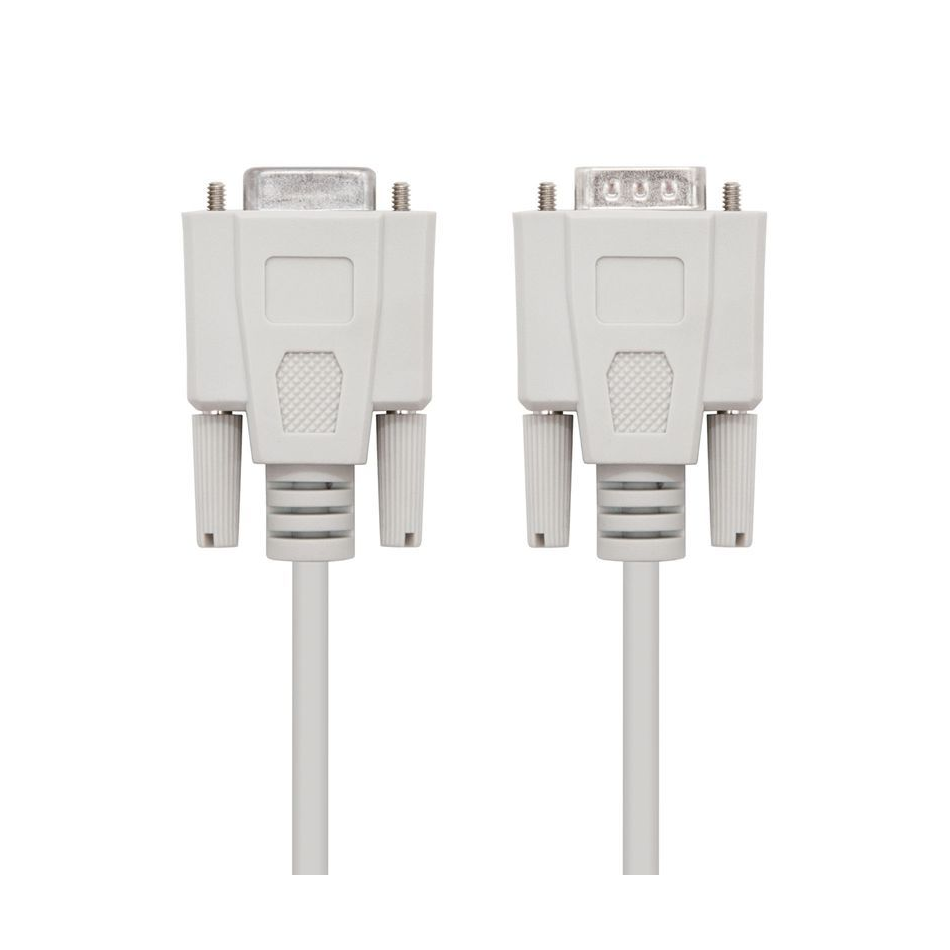 Comprar CABLE SERIE NULL MODEM NANOCABLE 10.14.0503   CONECTORES DB9 MACHO   DB9 HEMBRA   3M   BEIGE