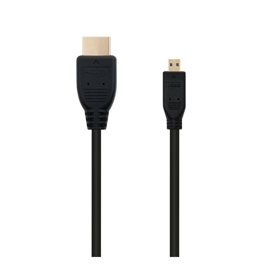 Comprar CABLE MICRO HDMI NANOCABLE 10.15.3501   V1.4   CONECTORES HDMI TIPO A MACHO / MICRO HDMI TIPO D MACHO   ALTA VELOCIDAD 0.8 MS