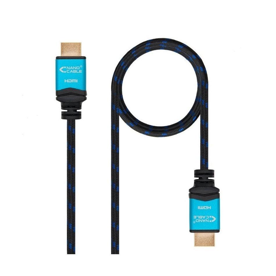 Comprar CABLE HDMI NANOCABLE 10.15.3710   V2.0   CONECTORES HDMI (TIPO A) MACHO   MULTIPLE APANTALLAMIENTO   10 MS   NEGRO