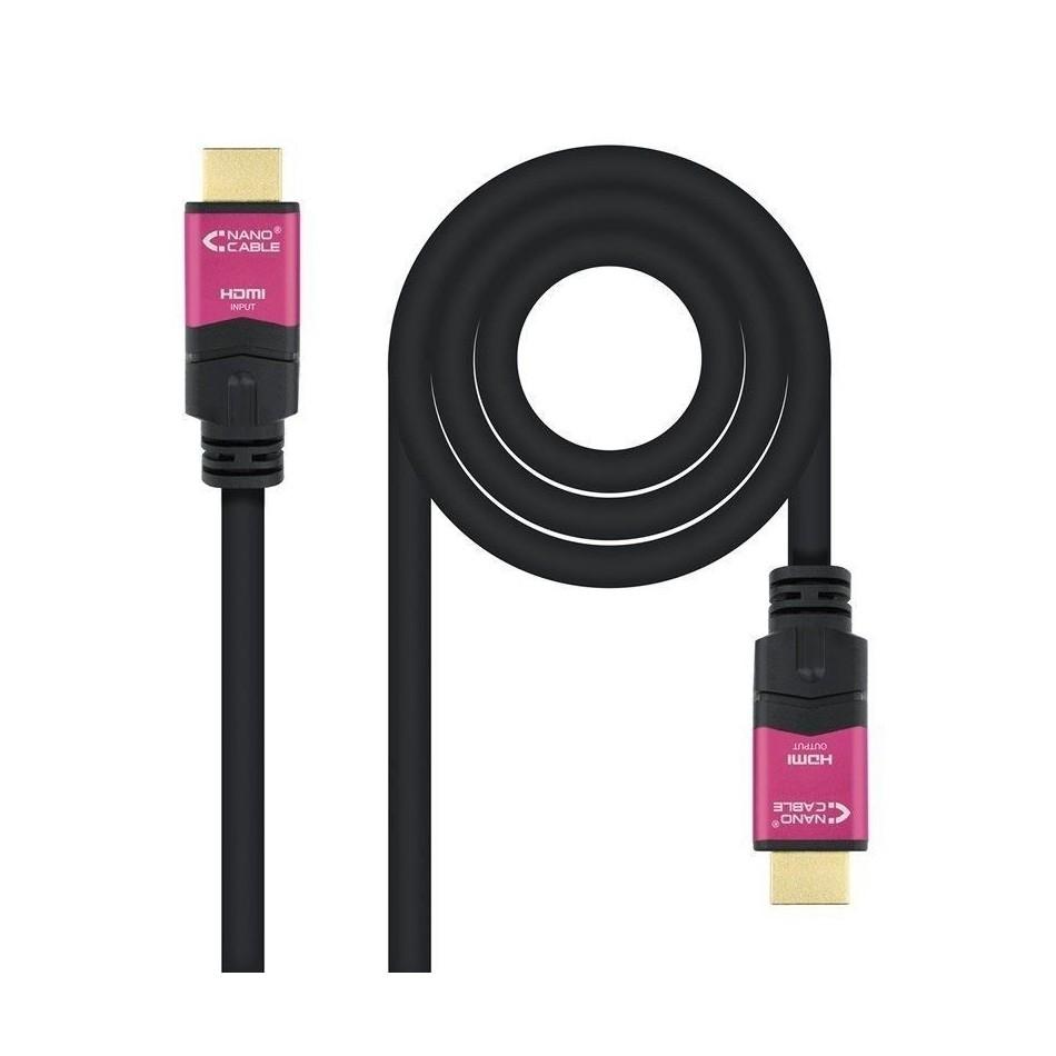 Comprar CABLE HDMI NANOCABLE 10.15.3720 20 MS   ALTA VELOCIDAD V2.0   CONECTORES HDMI (TIPO A) MACHO     NEGRO