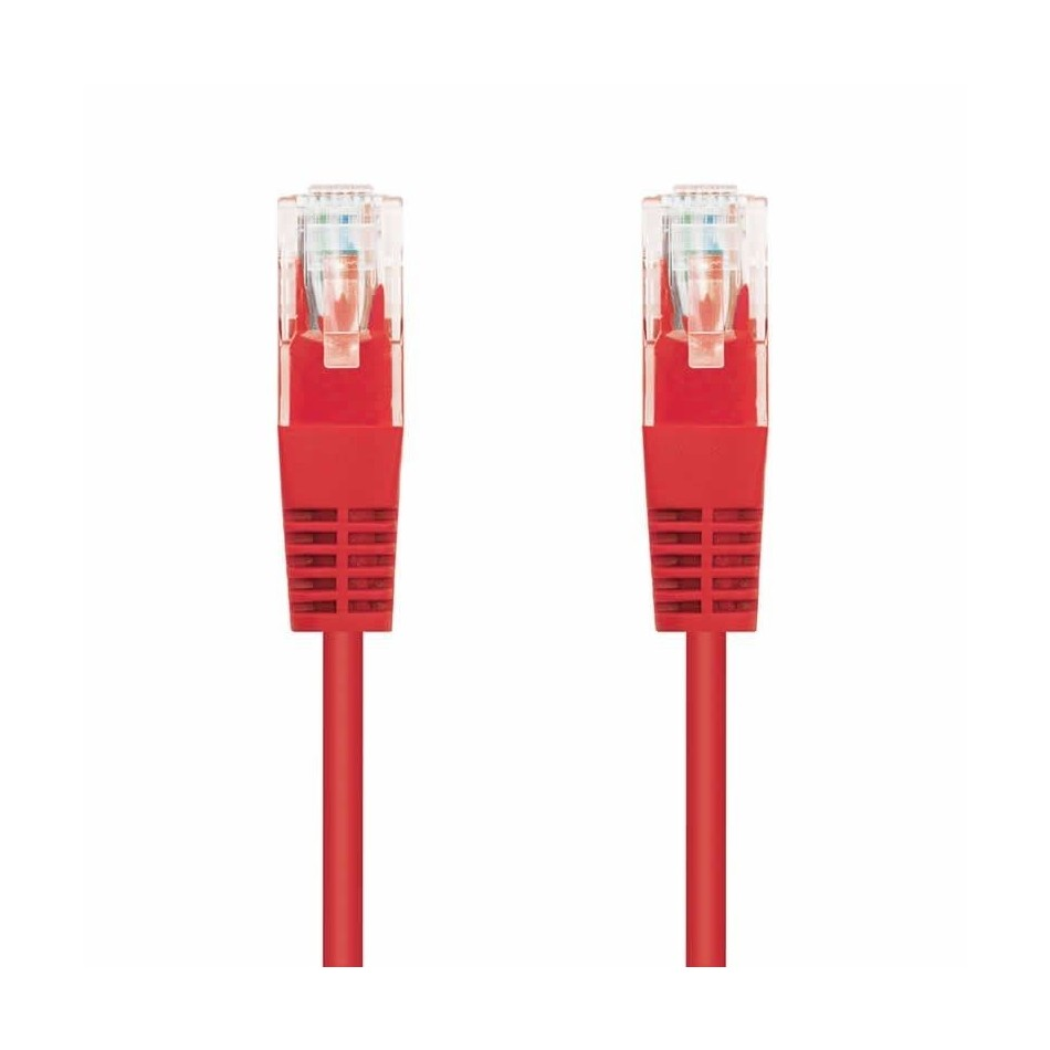 Comprar LATIGUILLO DE RED NANOCABLE 10.20.0400 R   RJ45   UTP   CAT6   50CM   ROJO