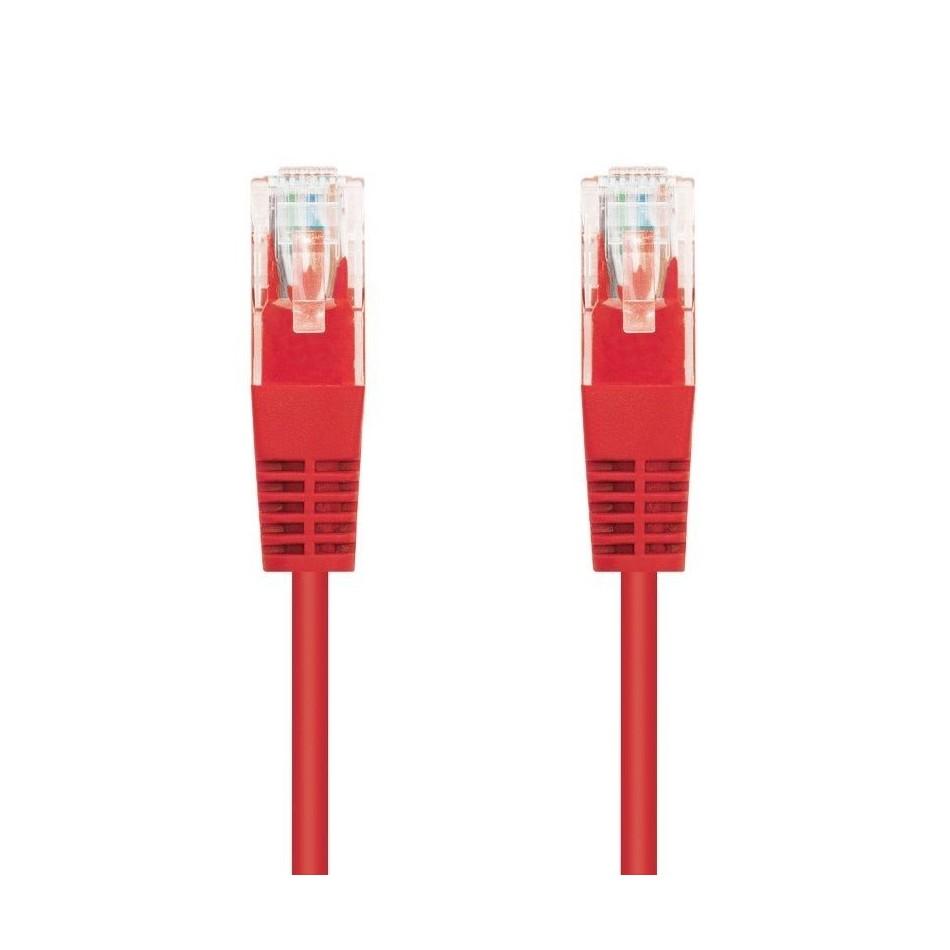 Comprar LATIGUILLO DE RED NANOCABLE 10.20.0401 R   RJ45   UTP   CAT6   1M   ROJO