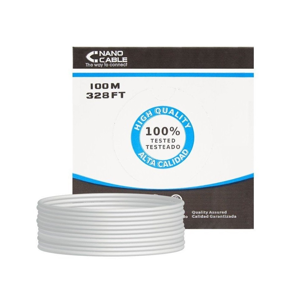 Comprar BOBINA DE CABLE NANOCABLE 10.20.0902   RJ45   CAT6   FTP   AWG24   100M   GRIS
