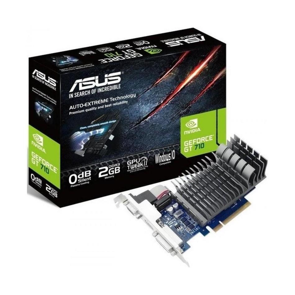 Comprar TARJETA GRÁFICA ASUS GEFORCE GT710 SILENT  GPU 954MHZ  2GB DDR5  PCI EXPRESS 2.0  DVI  HDMI  VGA  COMPATIBLE PERFIL BAJO