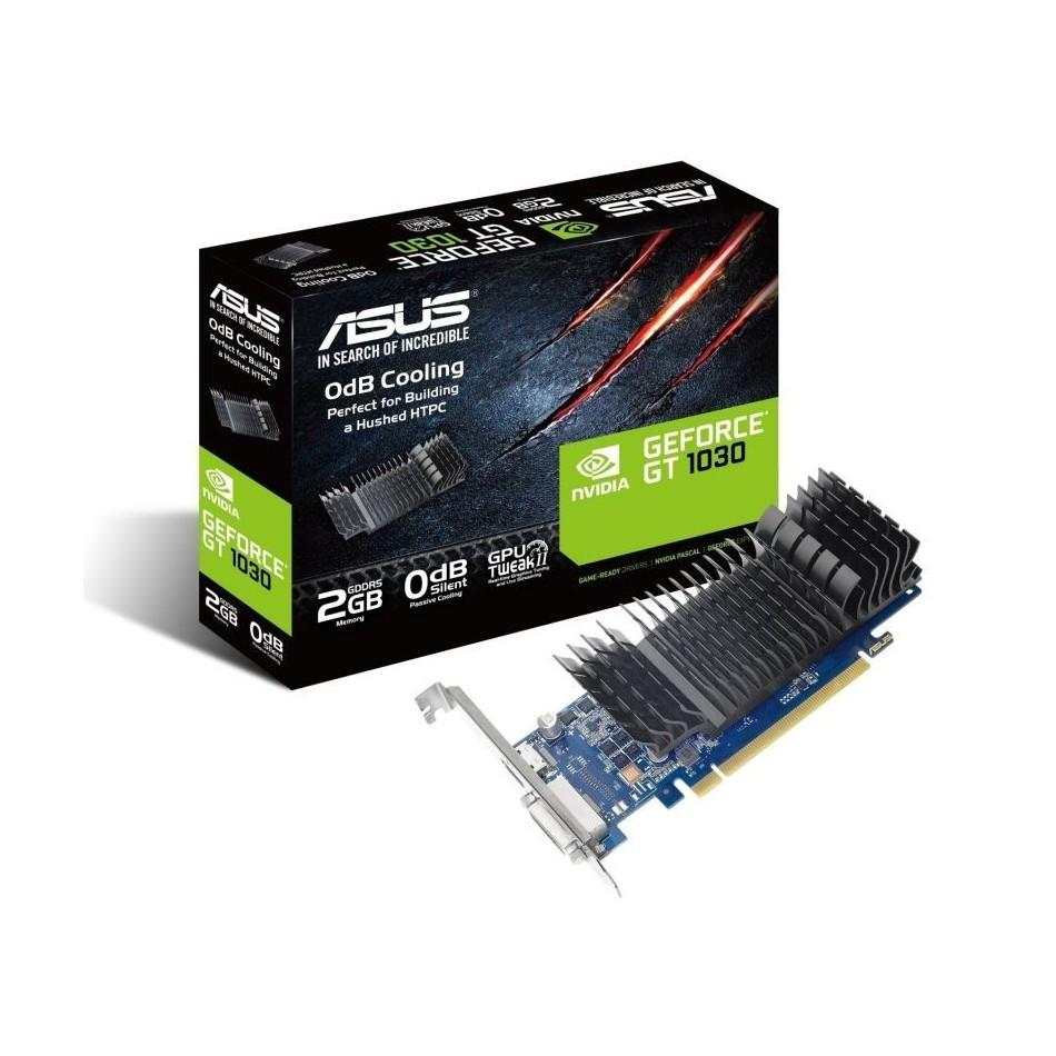 Comprar TARJETA GRÁFICA ASUS GEFORCE GT 1030 SL 2GB BRK  GPU 1506MHZ  OPENGL 4.5  2GB GDDR5  PCI EXPRESS 3.0  DVID  HDMI  HDCP