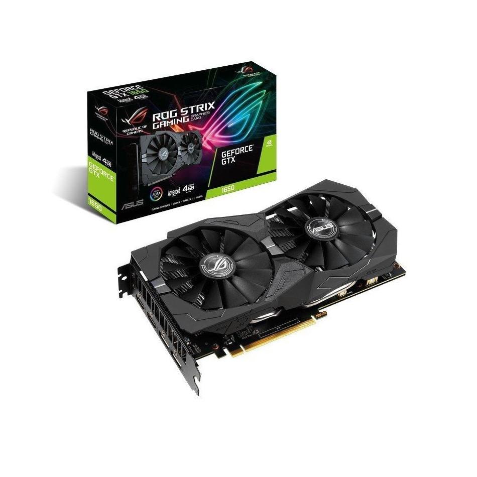 Comprar TARJETA GRÁFICA ASUS ROG STRIX GTX1650 A4G GAMING  GPU 1485MHZ  4GB GDDR5  PCI EXPRESS 3.0  2*HDMI  2*DISPLAYPORT