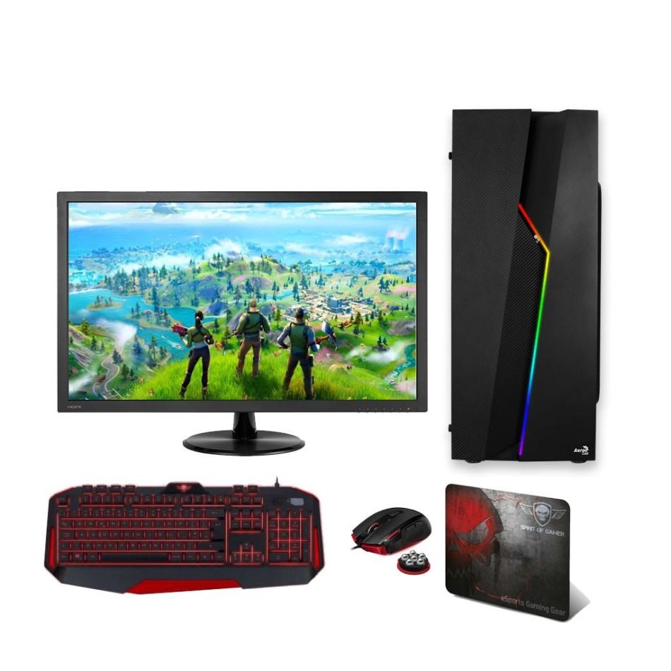 Comprar PC Gaming  - BASIC - AMD AM4 3000G | 8GB DDR4 | 240 SSD | Monitor 24 |