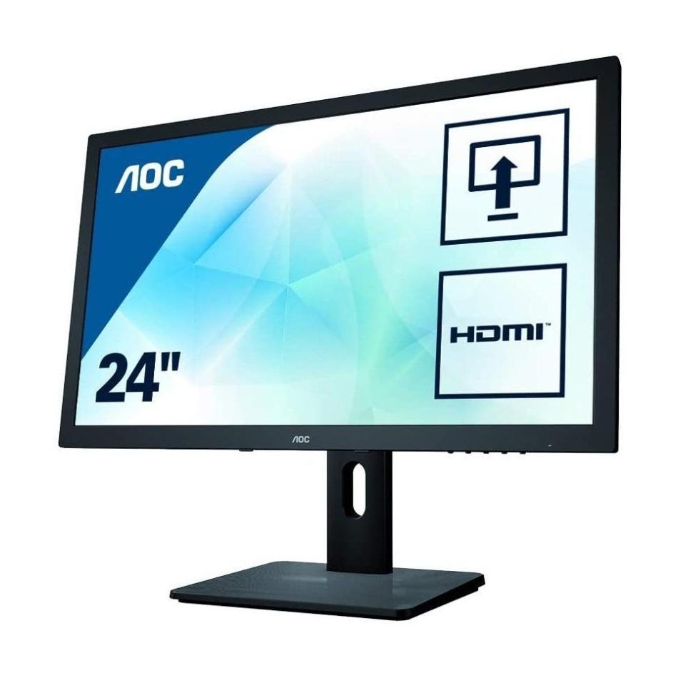 Comprar MONITOR MULTIMEDIA AOC E2475PWJ  23.6' 1920*1080  2MS  250CD  ALT. 2*2W  HDMI  VGA  DVI  ALTURA REGULABLE