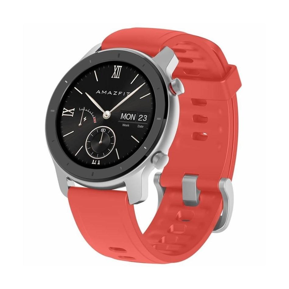 Comprar RELOJ INTELIGENTE HUAMI AMAZFIT GTR 42MM CORAL RED  PANTALLA 3CM AMOLED  BT 5.0  PULS…METRO    GPS  BAT. 195MAH