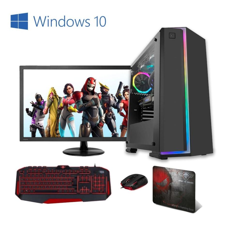 Comprar PC Gaming AMD AM4 Ryzen 3 3100 | 8GB DDR4 | Monitor 24 | WIFI | 1TB + 240 SSD