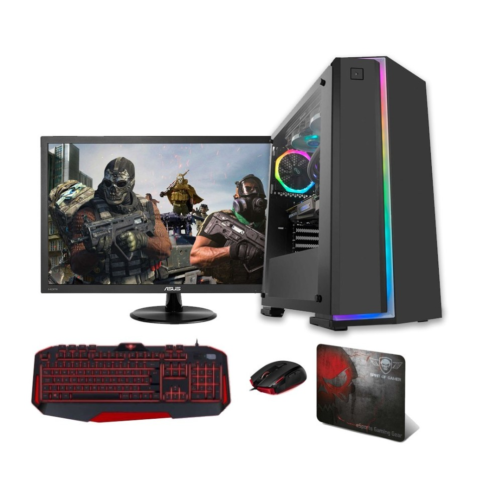 Comprar PC Gaming INTEL I5 10400 2.9 Ghz | 8 Gb DDR4 2666 | 240 SSD + HDD 1 TB | W10 HOME | MONITOR 24""