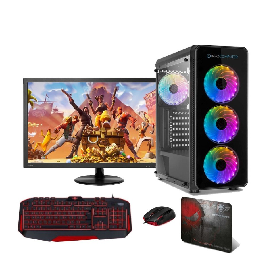 Comprar PC Gaming AMD AM4 Ryzen 3 3100 | 8GB DDR4 | Monitor 24 | WIFI | 1TB + 480 SSD