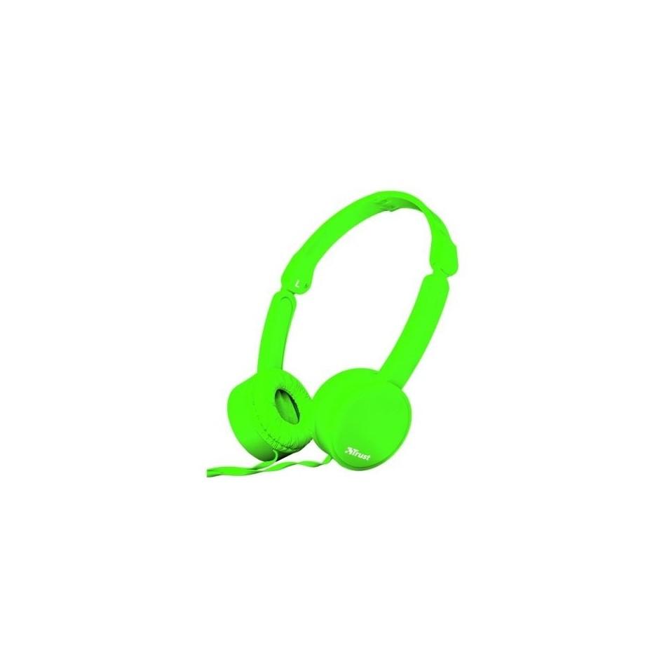 Comprar Auriculares Trust Nano 23101  con Microfono  Jack 3.5  Verdes